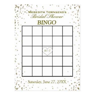 Bingo | Gold Confetti Post