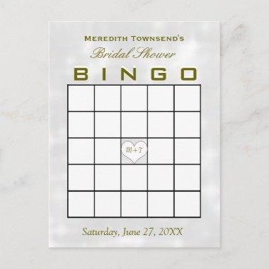 Bingo Monogram Heart Invitation Post