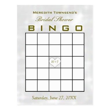 Bingo Monogram Heart Post