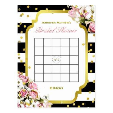 Bridal Shower Bingo | Stripes and Roses PostInvitations