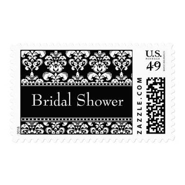 Black Damask Postage Stamps