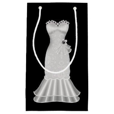 Black Gift Bag with Elegant Dress