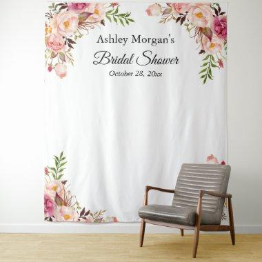Blush Pink Floral Photo Backdrop