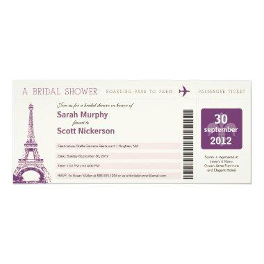 Boarding Pass to Paris France