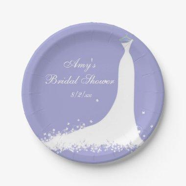 , Bride, Purple Paper Plate