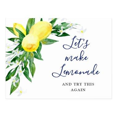 Bridal Shower Change the Date Lemons Blossom Green PostInvitations