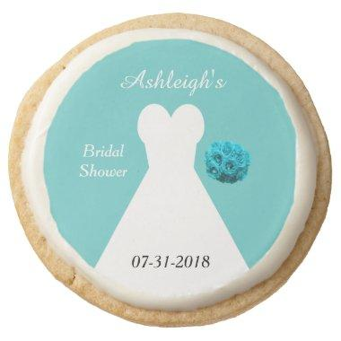 Bridal Shower Cookie Favors Aqua