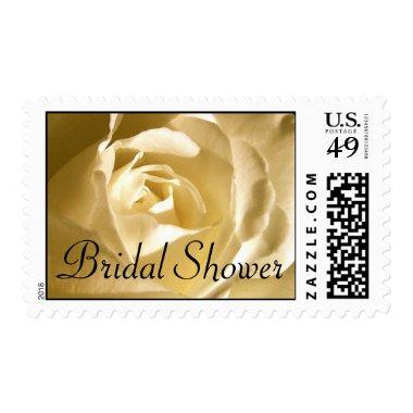 Bridal Shower Cream Rose Postage Stamp