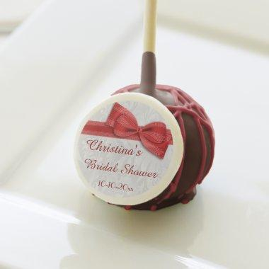 Damask and Faux Bow Cake Pops
