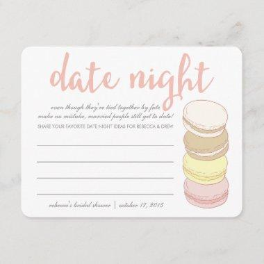 Bridal Shower Date Night Invitations | French Macarons