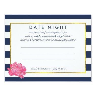 Date Night  | Navy Stripe Peony