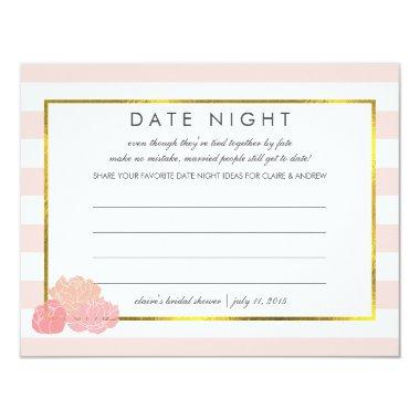 Date Night  | Pink Stripe Peony