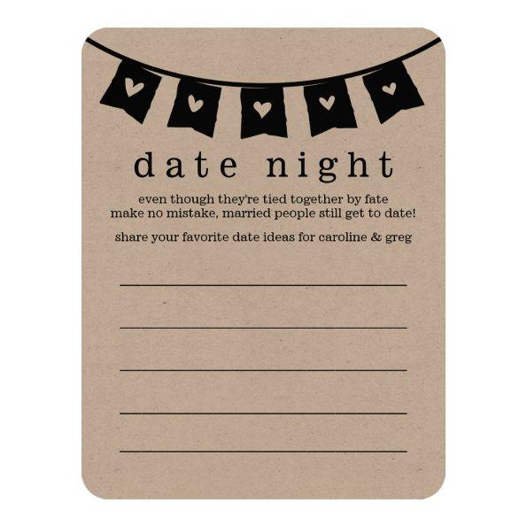 275 bridal shower date night vacation idea invitations