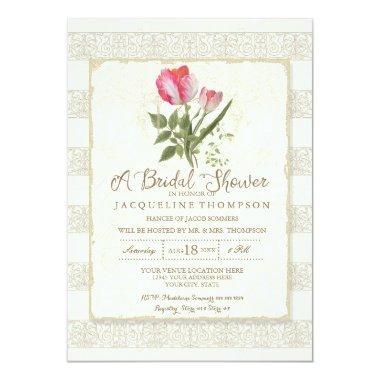Elegant Garden Floral Tulips Wedding