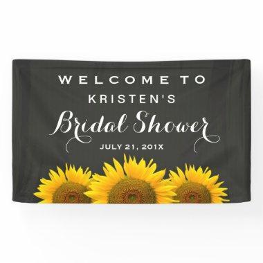 Elegant Sunflower Chalkboard Welcome Banner