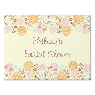 Bridal Shower Fancy Modern Floral Sign