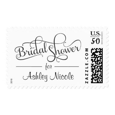Fancy Rustic Typography Postage