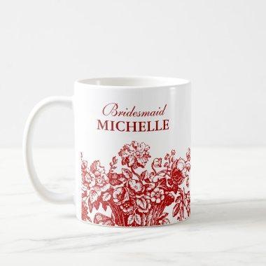 Favor Floral Basket Red Coffee Mug