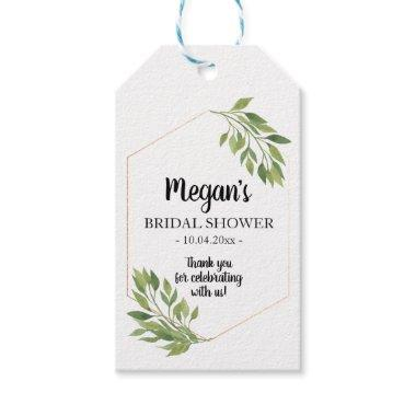 Favor Gift Tag greenery botanical