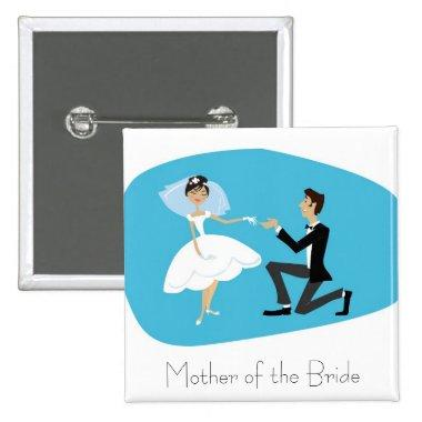 Favor-Mother of the Bride Pinback Button