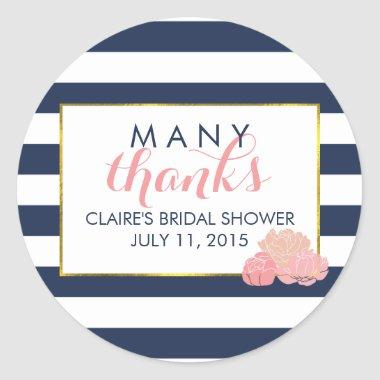 Favor Stickers Midnight Blush Peony