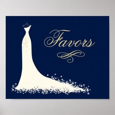 Favors Sign | Elegant Wedding Gown