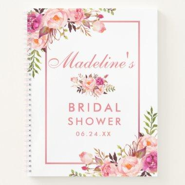 Floral Pink Blush Gift List Notebook