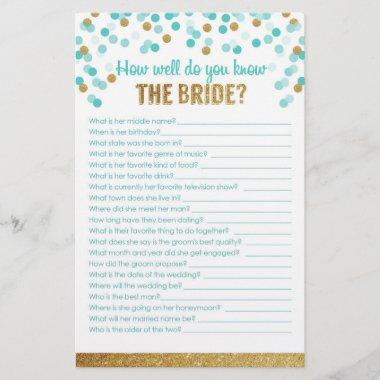 Game How well do you know the bride?