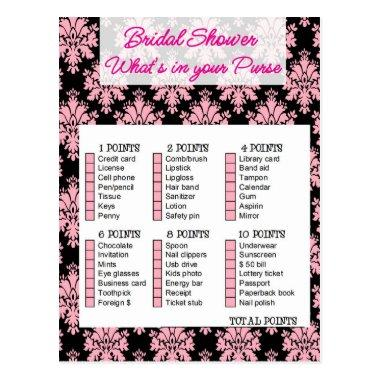 Bridal Shower game, What is your purse PostInvitations
