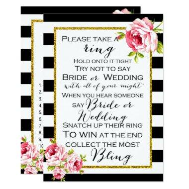 Bridal Shower Games x2 - Ring game | Apron Invitations
