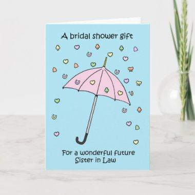 bridal shower gift for future sister in law invitations