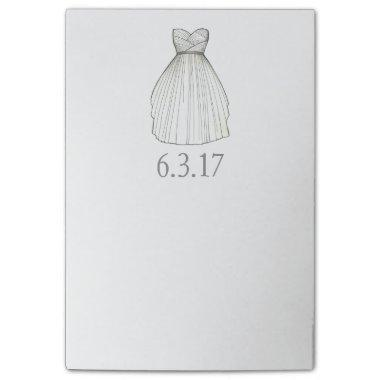 Bridal Shower Gown Bride Wedding Dress Post-It Post-it Notes