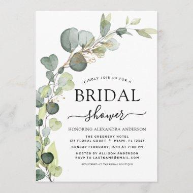 Bridal Shower Greenery Eucalyptus Succulent Invitations