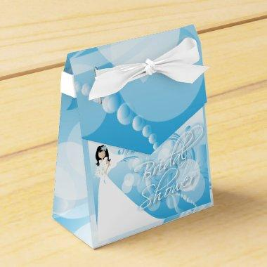 in a Pretty Blue And White Favor Box