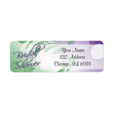 Bridal Shower in a Purple and Green Label