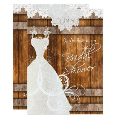 in Rustic Barn Wood and Lace