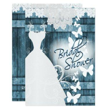 in Rustic Blue Barn Wood and Lace
