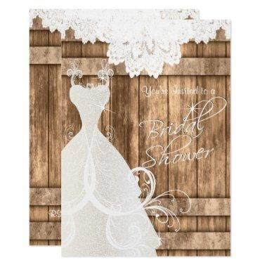 in Rustic Light Wood and Lace