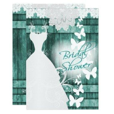 in Rustic Teal Barn Wood and Lace