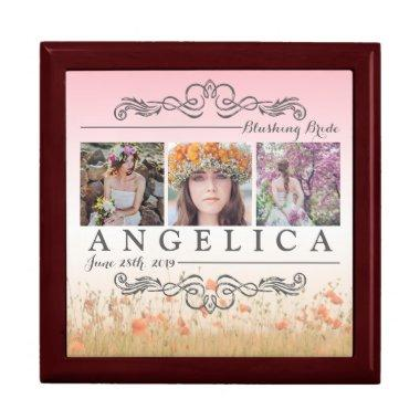 Instagram Wedding Ombre Photo Grid Jewelry Box
