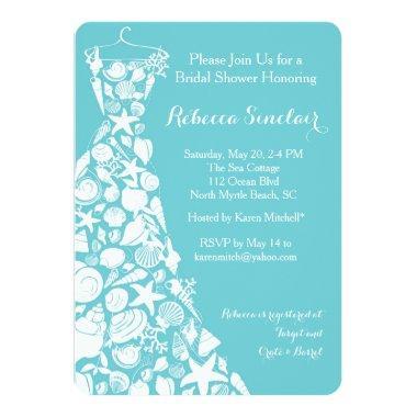 Invitation, Beach, Sea Shell Dress