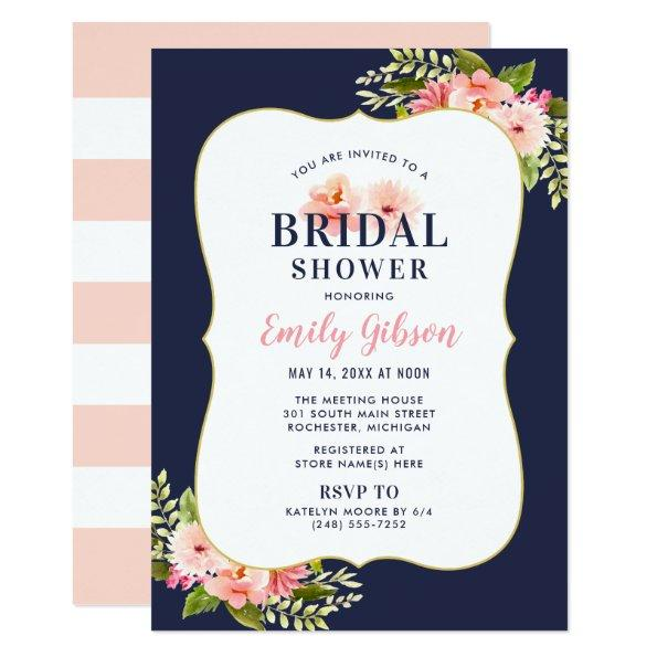 Bridal Shower Invitations | Blush Floral Watercolor