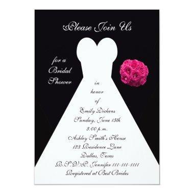 Bridal Shower Invitations -- Bridal Gown
