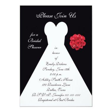 - Bridal Gown Red Roses
