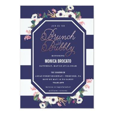BRIDAL SHOWER Invitations - brunch and bubbly champ