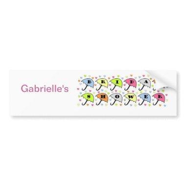 Bridal Shower Invitations Bumper Sticker