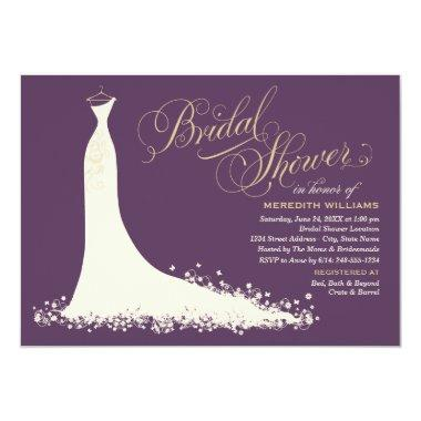 Bridal Shower Invitations | Elegant Wedding Gown