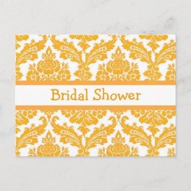 bridal shower invitation, elegant yellow damask invitation postInvitations