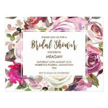 invitation modern floral lilac Post