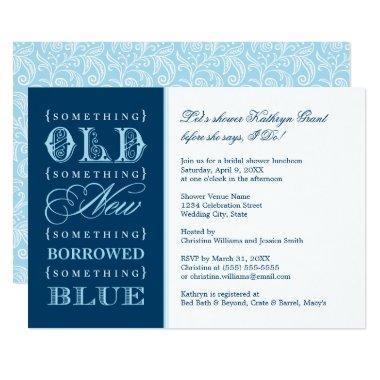 Bridal Shower Invitations | Something Blue